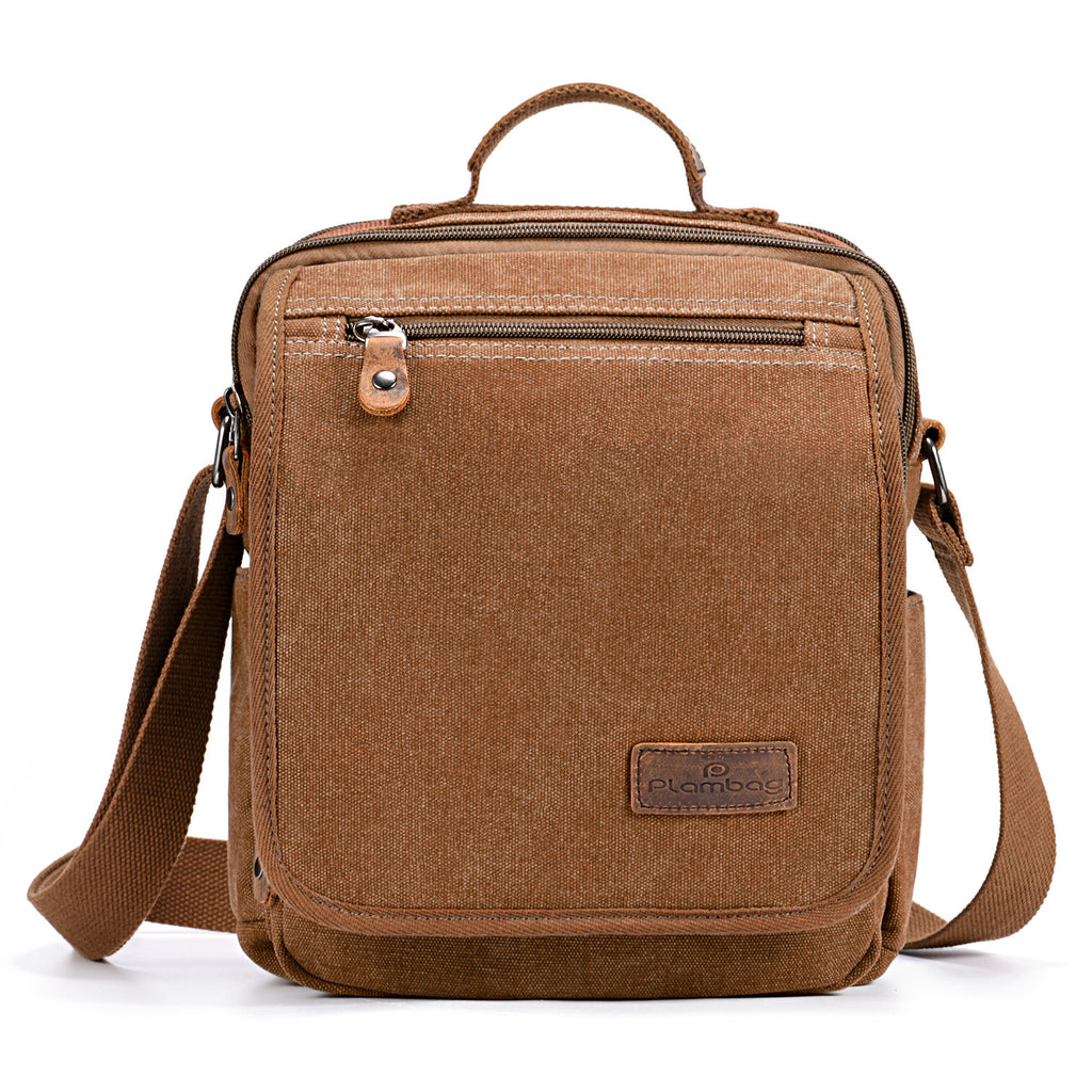 ... Plambag Canvas Messenger Bag Small Travel School Crossbody Bag ... fafb8d65997f9