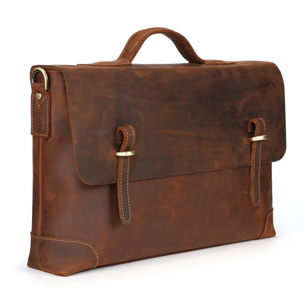 09a19b64ce Kattee Genuine Leather Messenger Bag Tote