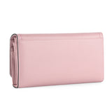 Kattee Women's Genuine Leather Wallet Cute Credit Card Phone Case Organizer