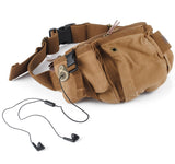 Kattee Top Canvas British Style Chest/Waist Bag with Invisible Headphone Hole