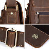 Kattee Crazy Horse Leather Briefcase Business Messenger Bag