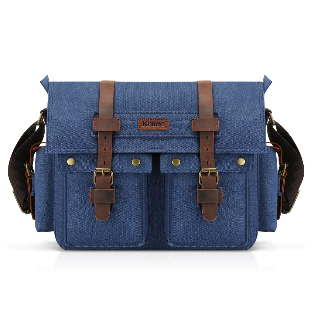 e10d2131a71e Kattee Retro Unisex Canvas Leather Messenger Shoulder Bag