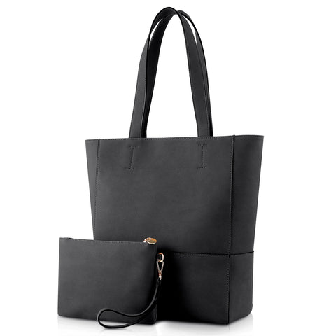 Plambag Large Shoulder Handbag with Removable Clutch