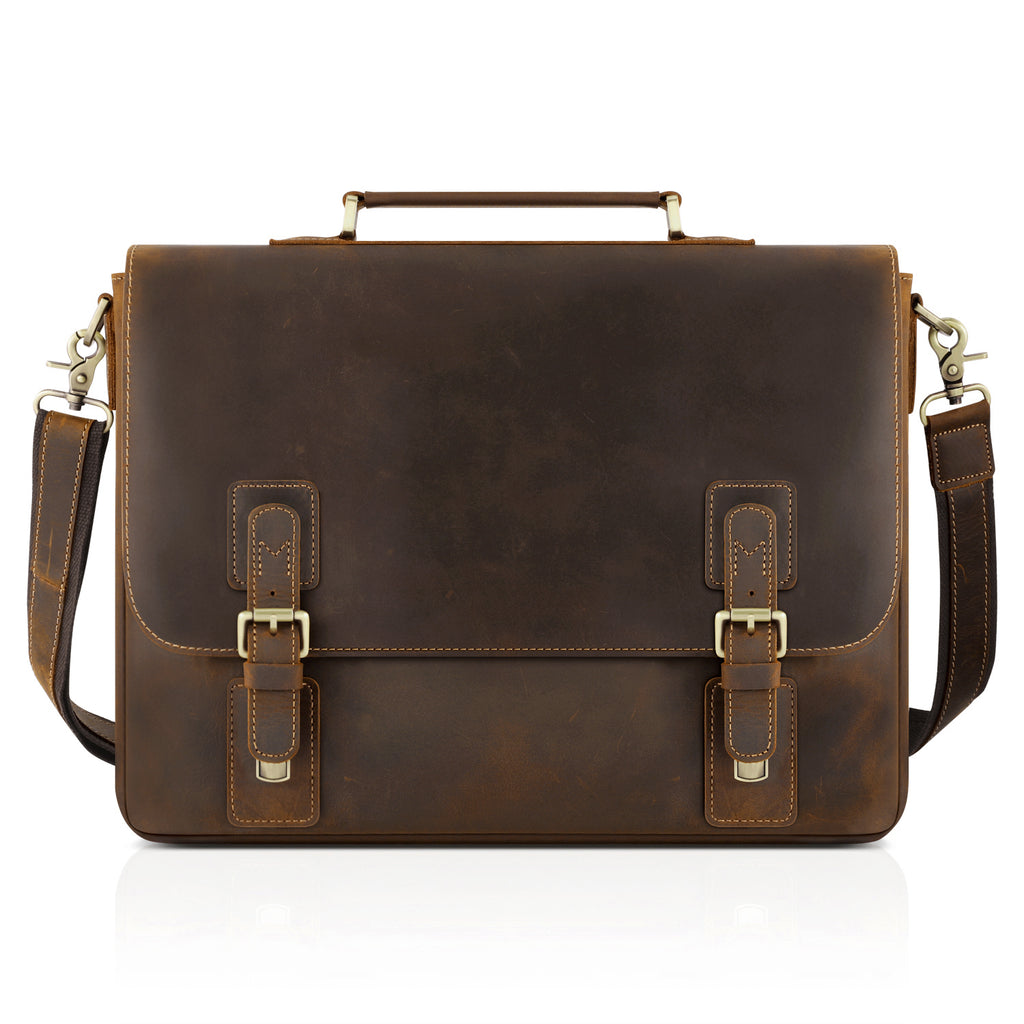 99c3a96a228f Kattee Men s Leather Satchel Briefcase