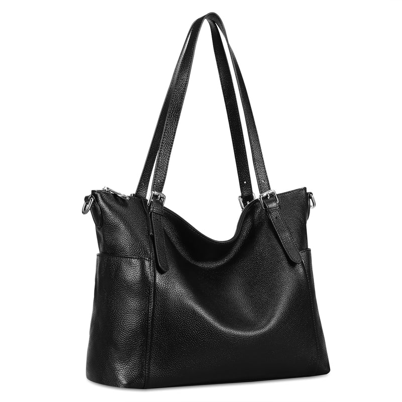 Kattee Women's Cowhide Leather Tote Shoulder Bag