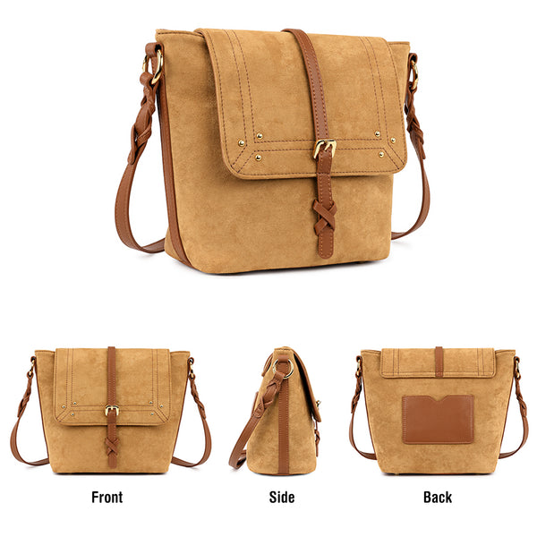 Kattee Women's Suede Leather Crossbody Bags