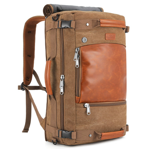 Plambag Canvas Travel Duffel Backpack