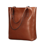 Kattee Urban Style 3-Way Women's Genuine Leather Shoulder Tote Bag