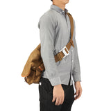 Kattee Canvas Crossbody Bag, Causual Leather Trim Messenger Shoulder Bag for Men Khaki