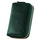 Kattee Leather Zip Around Wallet, Women's RFID Credit Card Small Wallet