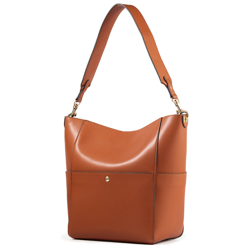 Kattee Women's Genuine Cowhide Leather Tote Bag