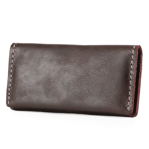Kattee Handmade Cowhide Leather Long Bifold Wallet