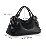 Kattee Women's Soft Genuine Leather Crossbody Bags Ladies Designer Purses Medium Size Hobo Handbags Top Handle