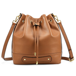 Kattee Women Leather Crossbody Bucket Bags