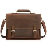 "Kattee Real Leather Shoulder Briefcase, 15.6"" Laptop Tote Bag"