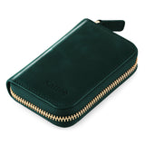 Kattee Leather Zip Around Wallet, Women's RFID Credit Card Small Wallet Green