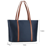 Plambag Water-repellent Nylon Basic Spacious Work Laptop Tote Shoulder Bag for Women