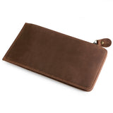 Katte Men's Crazy horse leather credit card wallet holder