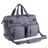 "Plambag Canvas Briefcase 15"" Laptop Messenger Bag Convertible Backpack"