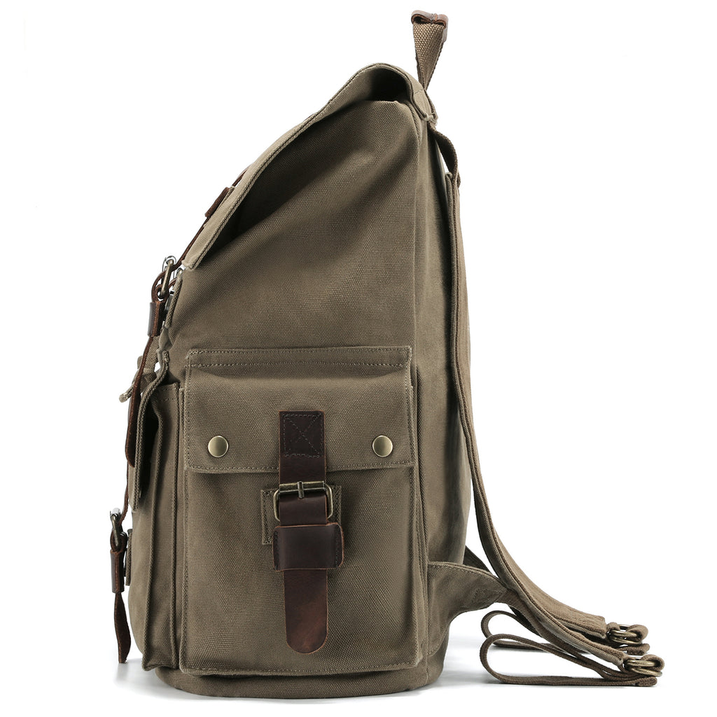 5e62a233319c ... Bag · Kattee Men s Canvas Leather Hiking Travel Backpack Rucksack School  ...
