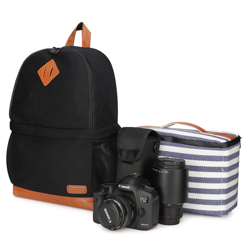Kattee Canvas Bag with Camera Case