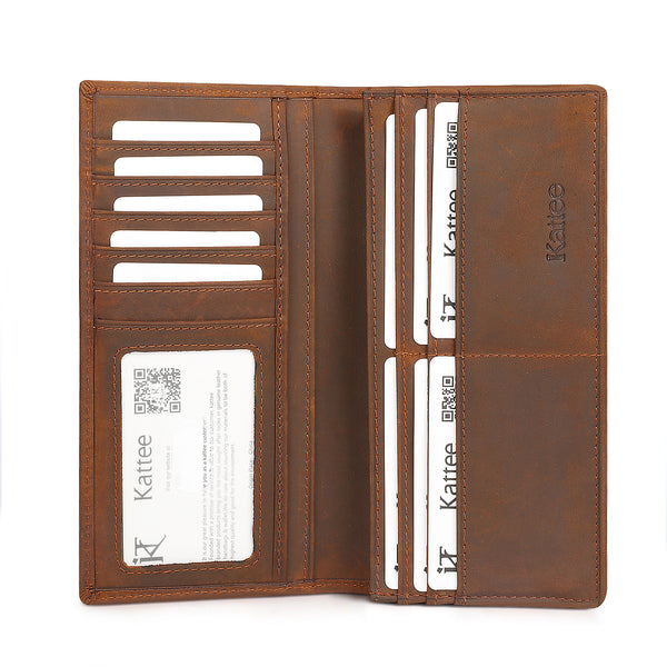 Kattee Men's Vintage Look Genuine Leather Bifold Wallet