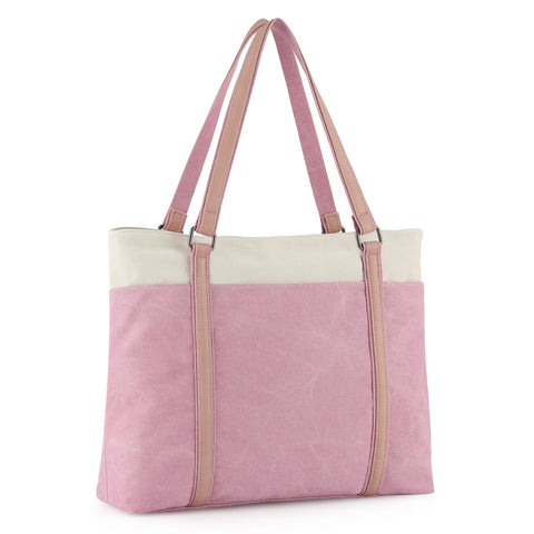 "Plambag Women's Laptop Tote Bag, Canvas 15.6"" Computer Work Office Handbag"