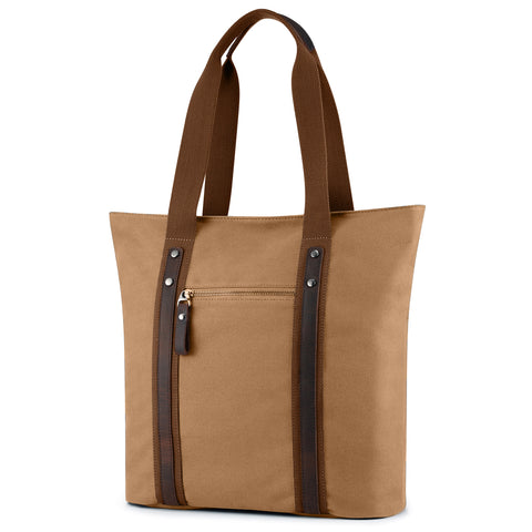 Plambag Canvas Leather Shoulder Bag Leisure Top-handle Handbag