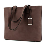 Plambag Soft Faux Leather Tote Top Handle Shoulder Bag