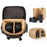 Kattee Canvas DSLR SLR Camera Backpack Rucksack Bag for Sony Canon Nikon, etc