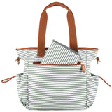 Plambag Striped Diaper Tote Bag Baby Nappy Shoulder Bag With Changing Pad