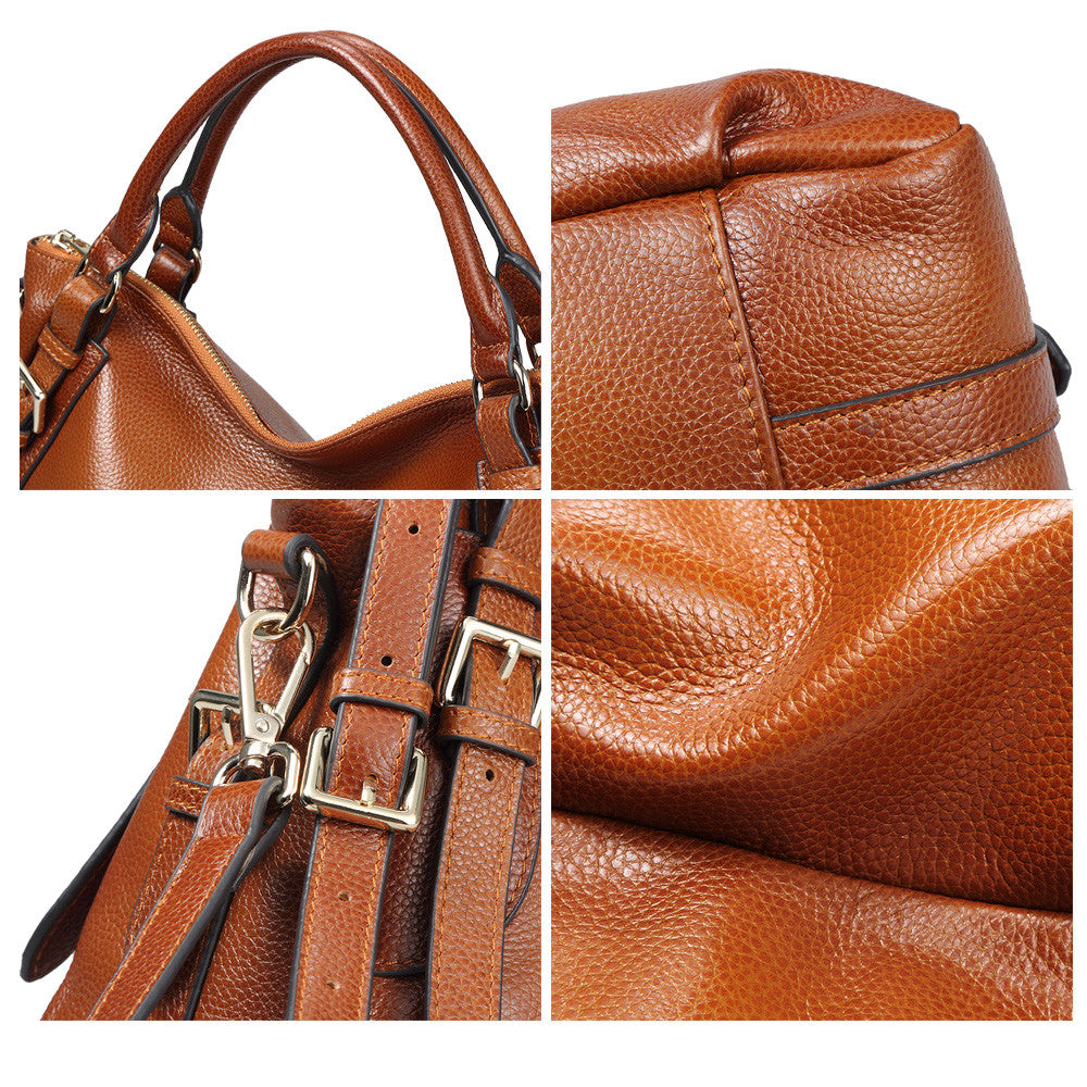 d945937ebc ... Shoulder Bag · Kattee Women s Genuine Leather Hobo Shoulder ...