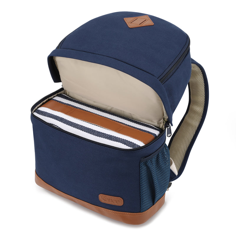 Kattee Professional Canvas SLR DSLR Camera Case Backpack Laptop Bag Small,Blue
