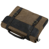 Kattee Canvas Genuine Leather Messenger Shoulder Bag