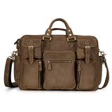Kattee Multi-Pocket Top Leather Messenger Bag