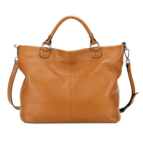 Kattee Women's Soft Leather 3-Way Satchel Tote Handbag