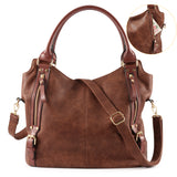 Plambag Women Faux Leather Hobo Handbag Large Tote Purse