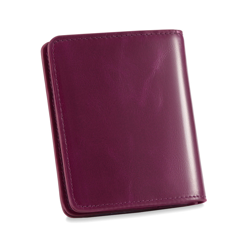 Kattee RFID Blocking Leather Bifold Small Wallet for Women Red