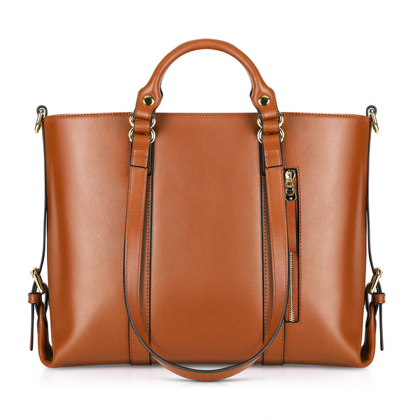 199a468b7cc Kattee Urban Style 3-Way Women's Genuine Leather Shoulder Tote Bag ...