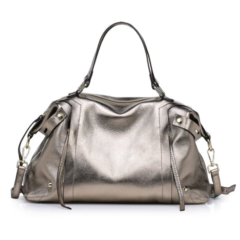 Kattee Soft Cowhide Leather Tote Summer Shoulder Bag