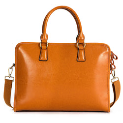Kattee Women's Leather Briefcase Handbag