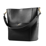Kattee Women's Cowhide Leather Tote Shoulder Bag Hobo Handbag