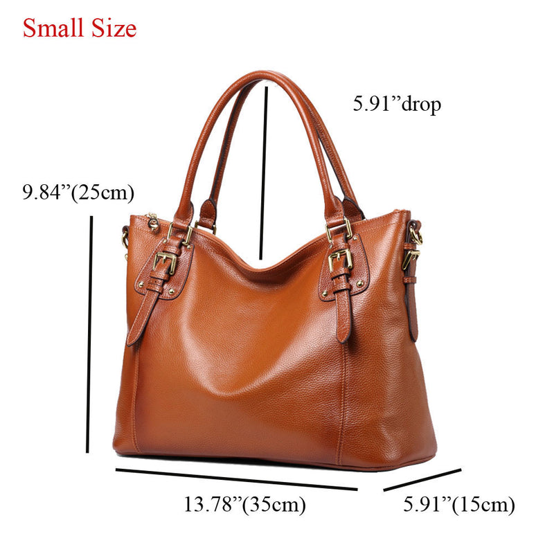 Kattee Women's Genuine Leather Tote Bag