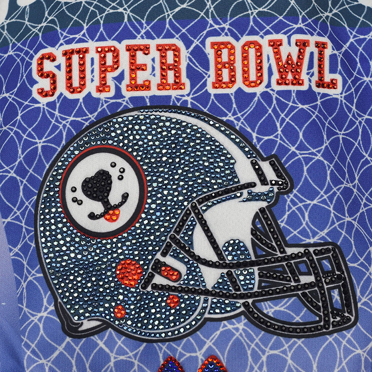 American Football Padded Sportswear with Crystals