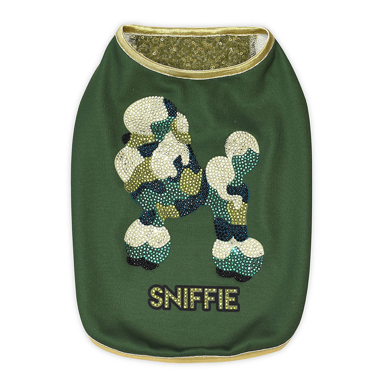Sniffie Dog Fashion Dog Clothes Knitted Vest with Crystals and Sequins