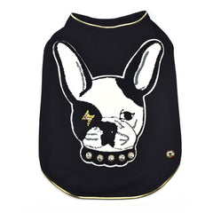 Sniffie Dog Fashion Dog Clothes Black Cotton Sleeveless Top
