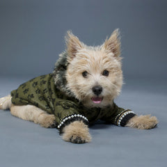 Sniffie Dog Fashion Padded Jacket with Fun Fur