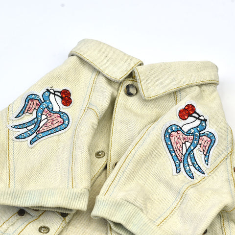Denim Jacket with Badges