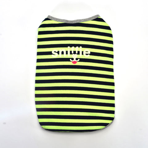 Sniffie Dog Fashion Dog Clothes Stripe Printed Vest