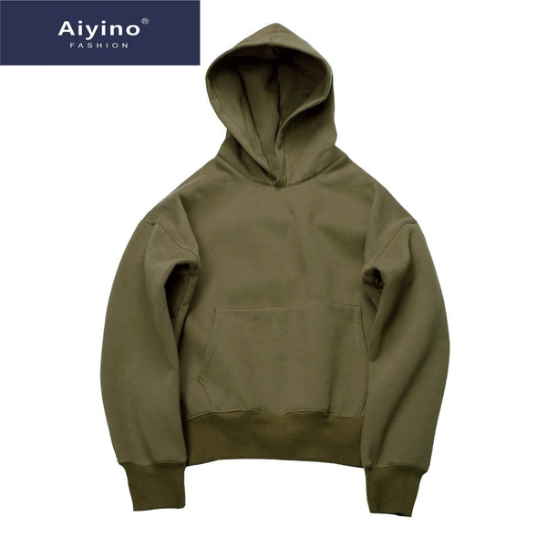 Aiyino hip hop hoodies with WARM winter mens hoodie sweatshirt  pullover